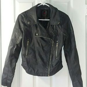 Dollhouse Zippered Jacket Faux Leather Size Small
